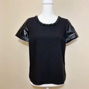 GUESS Black Embellished Top
